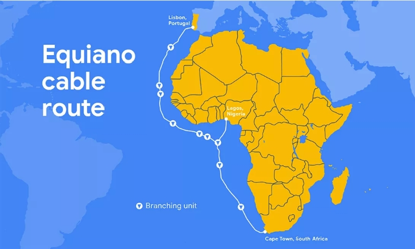 Google的第三条海底电缆将从葡萄牙向南非输送数据