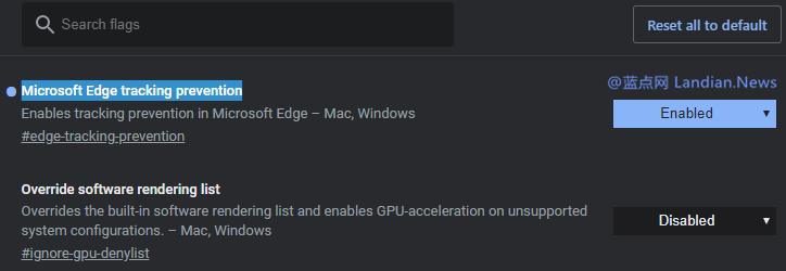 微软为Microsoft Edge浏览器添加类似火狐的跟踪防护服务