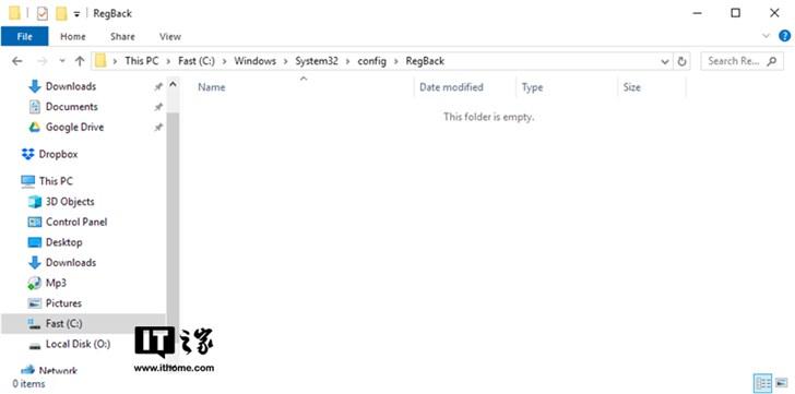 不是Bug:微软称自去年win10四月更新起已关闭注册表自动备份功能